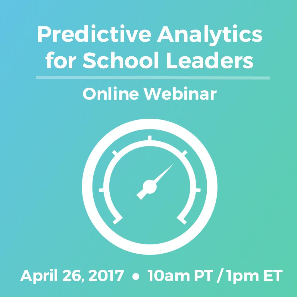 Predictive Analytics for School Leaders